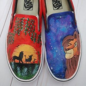 Custom Lion King Vans Slip Ons